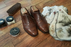 Basic shoe leather care, for the busy individual